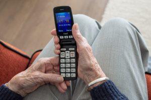 tło ręce z telefonem